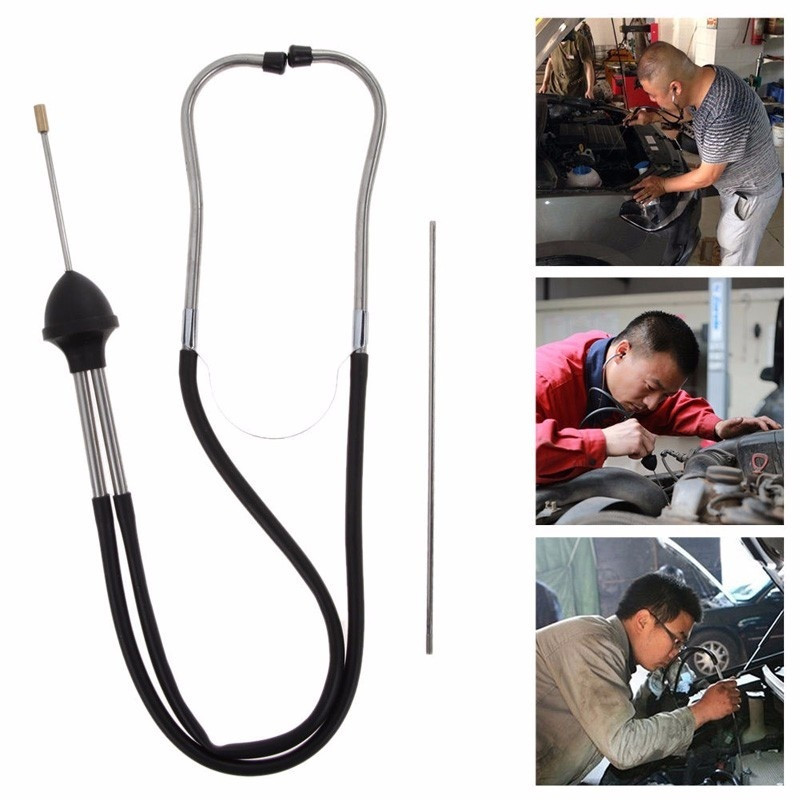 <font><b>Car</b></font> Stethoscope Auto <font><b>Mechanics</b></font> Engine Stethoscope Hearing <font><b>Tool</b></font> <font><b>Car</b></font> Engine Tester Diagnostic <font><b>Tool</b></font> Metal Probe Extends image