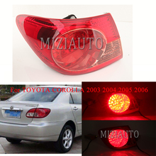 MIZIAUTO Rear tail light Outer side For TOYOTA COROLLA 2003 2004 2005 2006 Brake Light Rear Bumper Light Tail Stop Lamp Fog miziauto rear tail light outer side for toyota corolla 2003 2004 2005 2006 brake light rear bumper light tail stop lamp fog