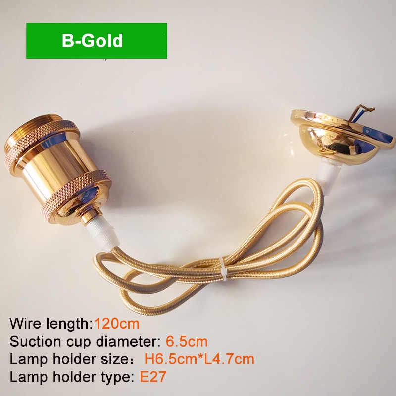 Lámpara colgante Retro loft lámpara colgante de aluminio E27 bombillas led soporte iluminación de techo Vintage lámpara industrial ZDD0004