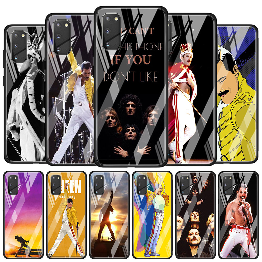 Tempered Glass Case Coque for <font><b>Samsung</b></font> Galaxy S8 S9 S10 S20 Plus <font><b>S10e</b></font> S10 S20 Ultra 5G S10 Lite Funda <font><b>Capa</b></font> Freddie Mercury Queen image