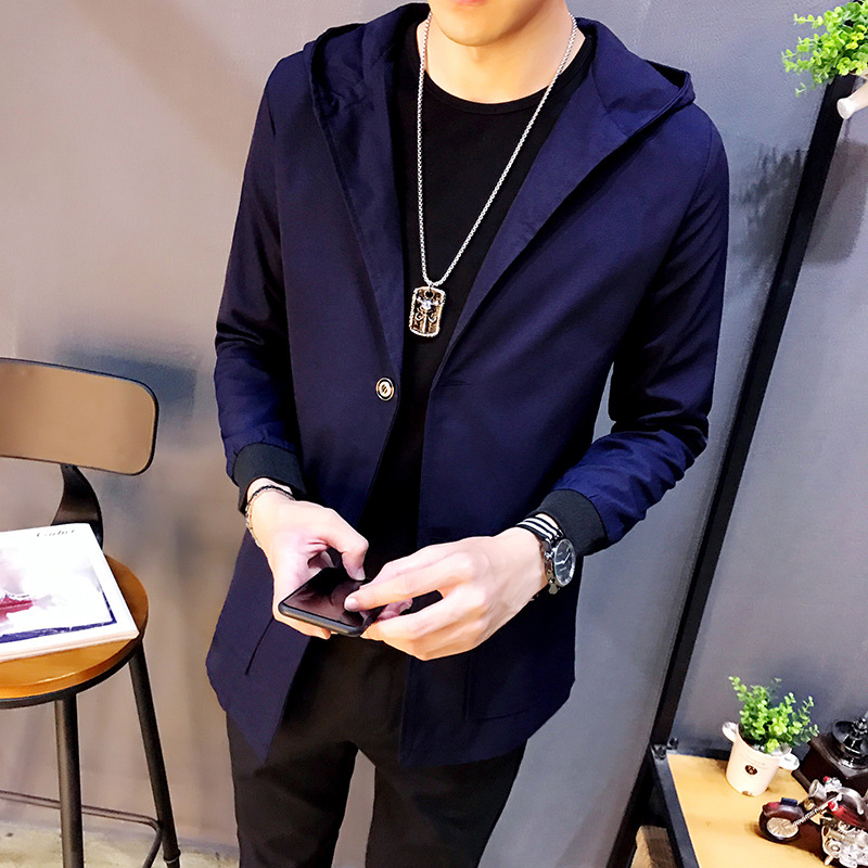 Fall And Winter Clothes Men's 2017 Autumn Trench Coat MEN'S Outerwear MEN'S Jacket Men's Large Size