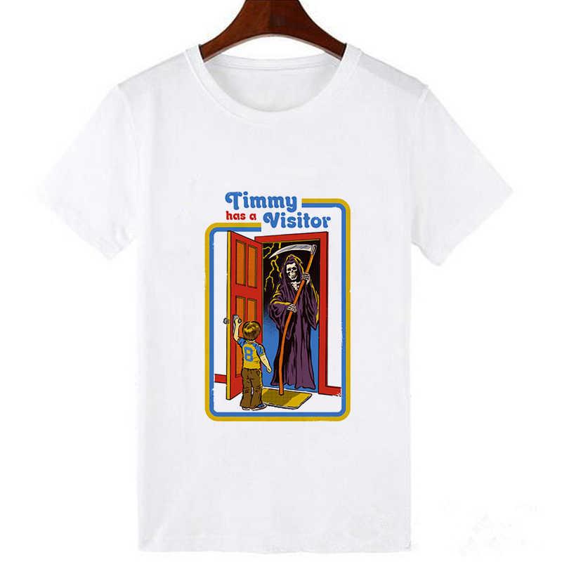 Camiseta de verano para hombre, camiseta Satan de alien death, camiseta estadounidense de algodón para hombre, camiseta de historia de terror
