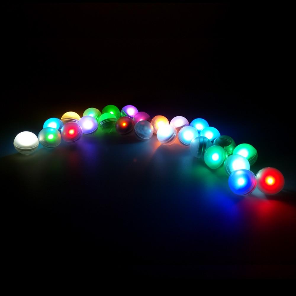 12Pcs/lot IP68 Waterproof LED Glowing Floating Ball Vase Light Multicolor Underwater Submersible Light For Aquarium Christmas