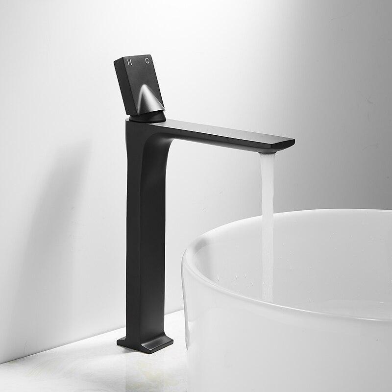 Керамический умывальник для ванной комнаты и туалета раковина белый керамический врезной умывальник с одним отверстием аксессуары для ванной комнаты раковины-столешницы - Цвет: TAP 2 HIGH