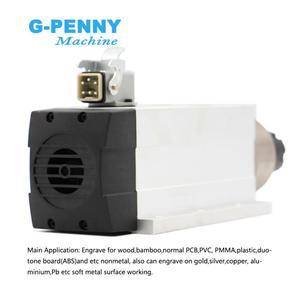 Image 5 - جديد وصول! 6.0kw تبريد الهواء المغزل ER32 300Hz 220 فولت/380 فولت مع تصاعد شفة 4 قطعة الكرات السيراميك 0.01 مللي متر الدقة