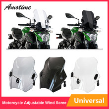 Fastpro Motorcycle Universal Windshield Windscreen Wind Screen Shield Protector for most of Motorcycles