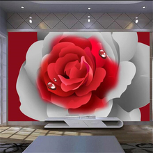 Beibehang Customized large murals fashion home decoration romantic red
