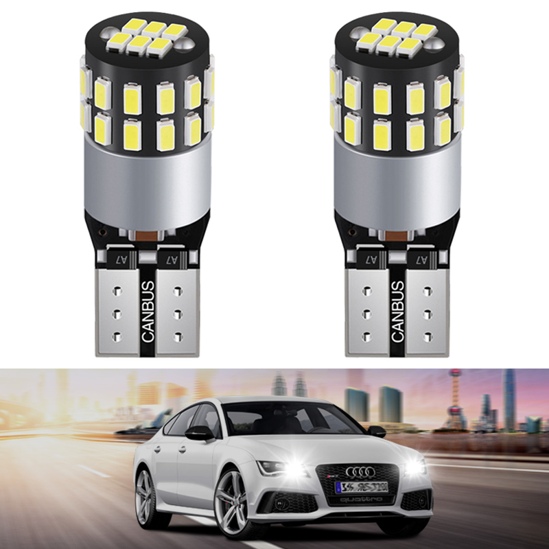 2pcs LED W5W <font><b>T10</b></font> 194 168 CANBUS <font><b>3014</b></font> <font><b>30SMD</b></font> Led Parking Bulb Auto Wedge Clearance Lamp Bright License Light Bulbs White image