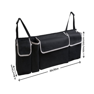 Image 5 - ออแกไนเซอร์รถTrunk Adjustable Backseat Storageกระเป๋าสุทธิความจุสูงMulti ใช้Oxfordรถยนต์ที่นั่งกลับOrganizer Universal