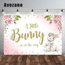 Avezano Tắm Cho Bé Trang Trí Tiệc Lưng Little Bunny Hoa Hồng Nền Chụp Ảnh Ảnh Phòng Thu Photozone Photocall Vincy