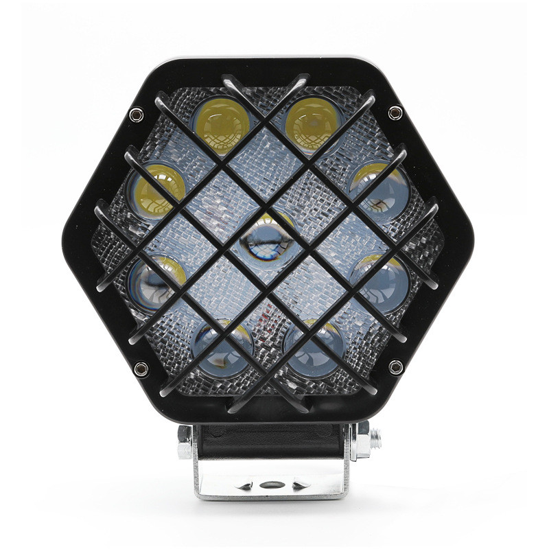 27W 5D LED Work Light SUV Off-Road Front Bumper Roof Spotlight Engineering Maintenance Hexagonal Mesh spot Lamp image