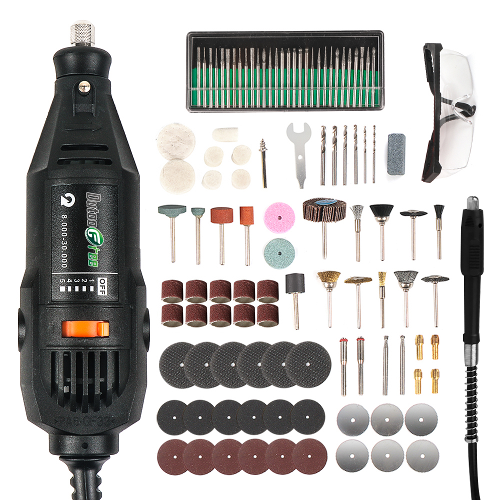 1 Set Dremel Style MultiPro Drill Carving Pen Soft Shaft Accessories 75pcs Polishing Top 30pcs Burs-level Kits Factory price