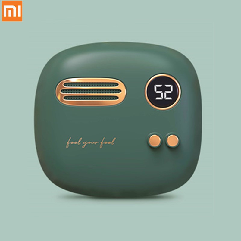 Xiaomi Retro Hand Warmer Power Bank 5000mAh Digital Display Temperature 52 Degree  Rechargeable Phone Charger Gift Box
