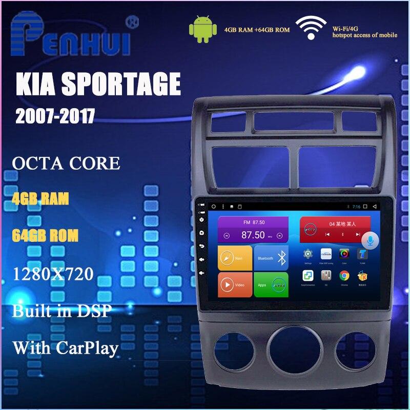 Dvd do carro para kia sportage (2007-2017) manual a/c rádio do carro reprodutor de vídeo multimídia navegação gps android 10.0 duplo ruído