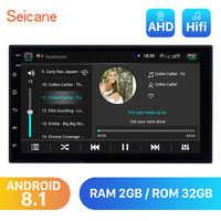 RAM 2GB + ROM 32GB Android 8.1 7 pouces Double Din universel Autoradio stéréo GPS Navigation lecteur multimédia unité de tête WIFI