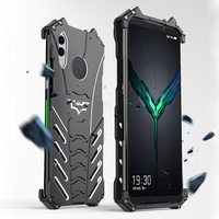 Dla Black Shark 2 Pro Case oryginalna R JUST zbroi batmana aluminium Metal dla Black Shark 2 Blackshark 2 pro przypadku  odporna na wstrząsy Coque w Dopasowane obudowy od Telefony komórkowe i telekomunikacja na