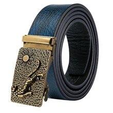 GE-2063 Golden Tiger men's Belt casual cow genuine leather belts for men strap male belt Blue automatic buckle cinto masculino цена 2017
