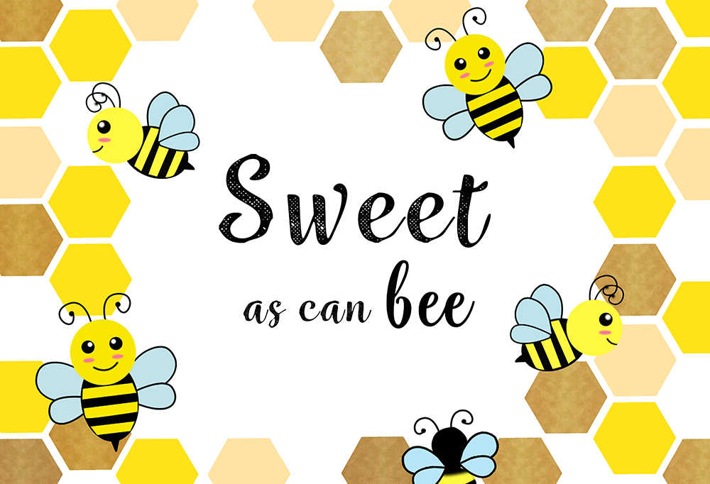 Avezano Bumble Bee Backdrop Bee Baby Shower Birthday Background 5x3ft Vinyl Honeycomb What Will Baby Bee Gender Reveal Backdrops