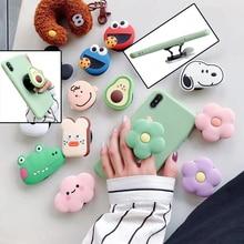 Cartoon air bag phone Holder stretch bracket cute finger Stand grip Strap mobile Expanding anime Universal cellphone Ring