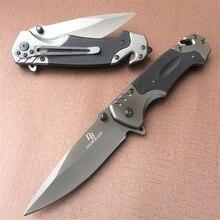 Cuchillo plegable táctico 440c de bolsillo para supervivencia al aire libre, caza, acampada, apertura rápida, cuchillo de hoja inoxidable G10