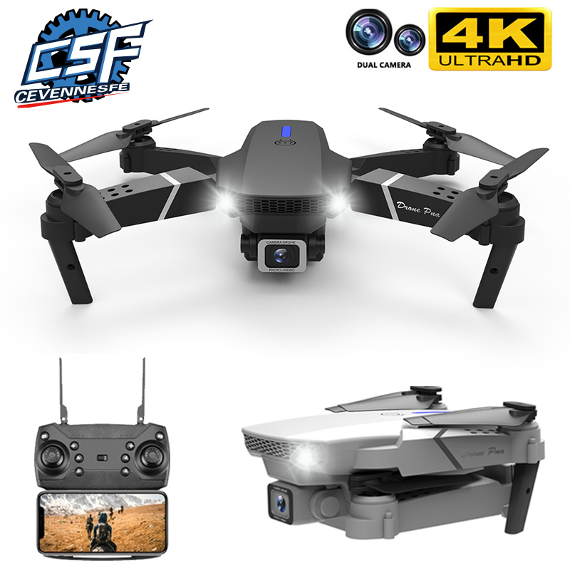 2020 NEW E525 drone 4k 1080P HD wide angle dual camera WIFI FPV positioning height keep Foldable RC Helicopter Dron Toy Gift|RC Helicopters| - AliExpress