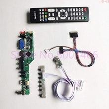 """עבור B156XTN03.2 B156XTN03.4 15.6 """"VGA + HDMI + AV + USB + RF LVDS 40Pin 3WLED 1366*768 נייד טלוויזיה מסך בקר כונן ערכת לוח"""