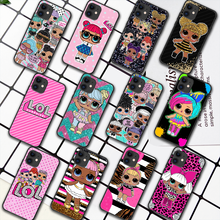 LOL Cute Cartoon Doll Girl Phone Case For iPhone 5 5S SE 2020 6 6S 7 8 Plus 11 12 Mini X XS XR Pro Max black Coque Tpu Etui