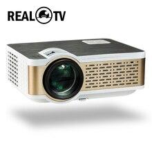 Real tv W5 Full HD светодиодный проектор 4K 4000 люмен HDMI USB 1080p Портативный кинопроектор