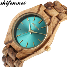 Shifenmei Women Wooden Watches Top Brand Luxury Minimalist Wood Watch Ladies Creative Designer Dress Quartz Wristwatch 5563 все цены