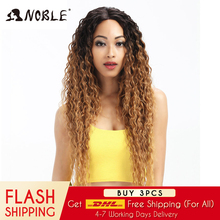 Noble Hair Synthetic Lace Front Wig Long Wavy Hair 30 Inch Blonde Wigs For Black Women Ombre Hair Synthetic Lace Front Wig african american synthetic hair wigs glueless lace front wig natural soft synthetic lace front wig for black women free shipping
