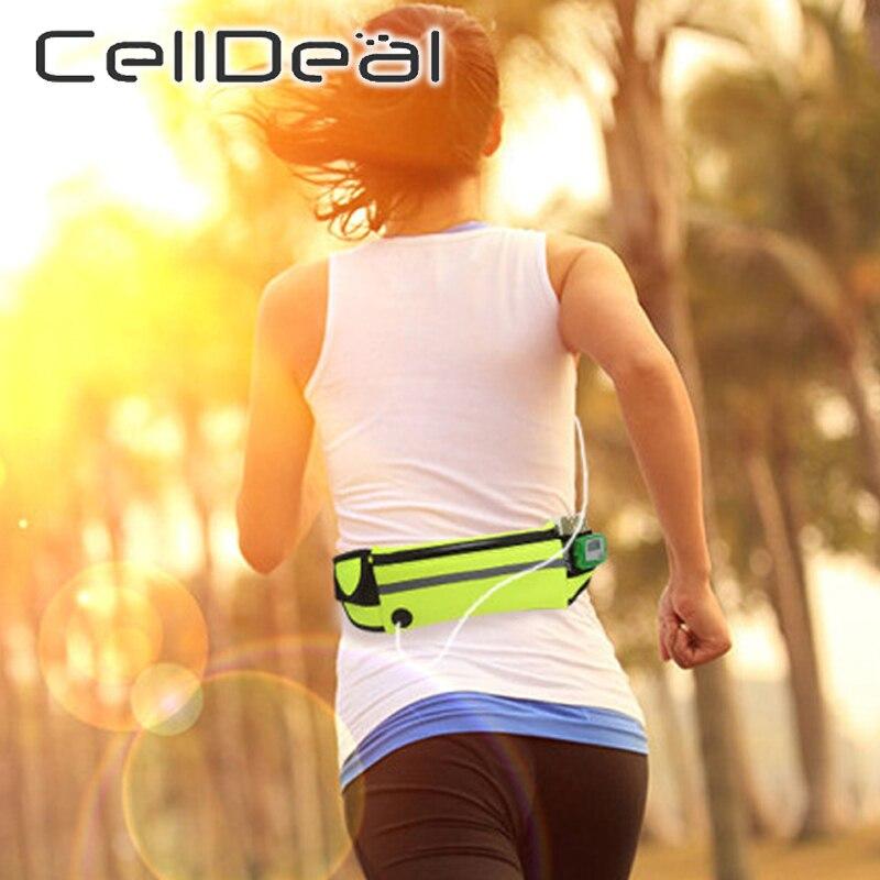 Adjustable Casual Waist Packs  Running Waist Bag Canvas Sports Outdoor Phone Holder Belt Bag Fitness Sport Accessories Unisex