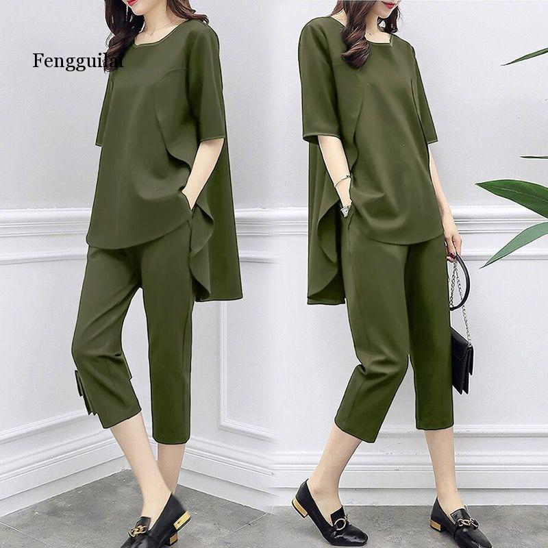 Spring Large Size 5xl 2 Piece Set Women Casual Tops+pants Female Costume Tracksuit Woman Suit