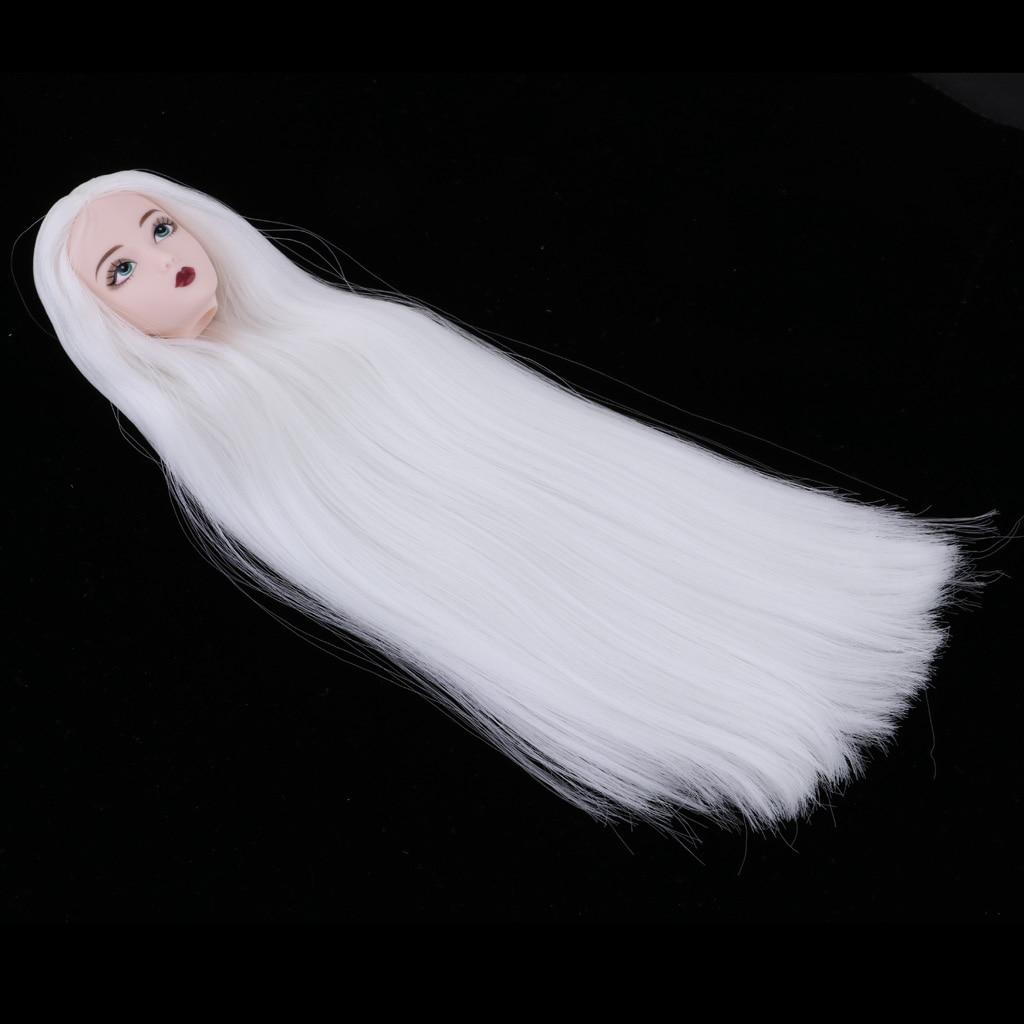 1/6 кукла для девочек, с рисунком головы, модель с длинными белыми волосами для кукол BJD, аксессуары для детей на заказ Куклы      АлиЭкспресс