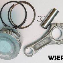 Pistón, anillos, Pin, biela, compatible con motor de Gas de eje Vertical WV200, VP200, 196CC, usado para motocultor/cortacésped/lavadora a presión
