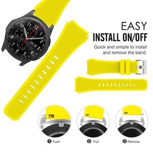 22 мм 20 мм силиконовый ремешок для Galaxy Watch 46 мм высококачественный спортивный ремешок для Samsung Gear S3 Frontier/Classic Huawei Watch Gt