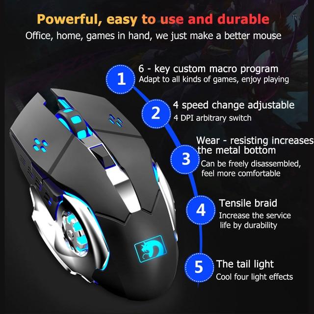 104 Keys Mechanical Feel Wired Gaming Keyboard Mouse Set Metal Phone Holder RGB Backlit Mouse Keyboard Set for Desktop Laptop PC 5