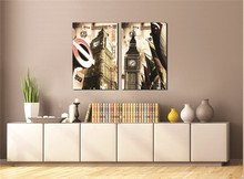 London Big Ben Architecture Landscape Painting Sofa Background Wall Art Poster Oil Canvas