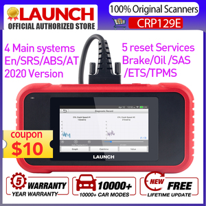 LAUNCH CRP129E OBD2 DIagnostic Tool Support Engine ABS SRS AT With Brake Oil SAS ETS TMPS Reset Services PK CRP129 NT650 Scanner