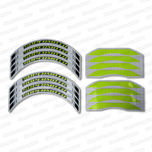KUNGFU GRAPHICS 17 x 17 Inches Rim Stripes Decal Sticker Kit Wheel Decor for Supermoto Supercross EnduroYellow, Customizable