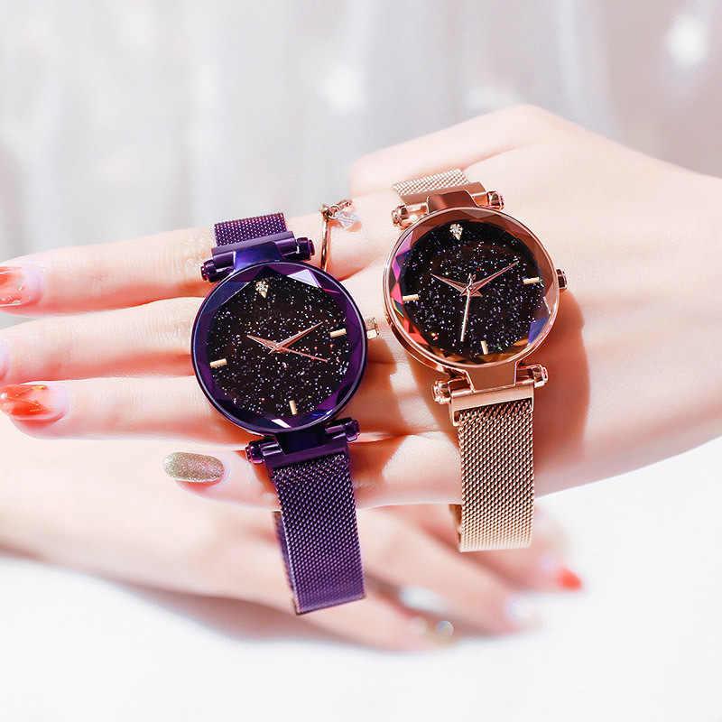 שעונים נשים יוקרה מותג שמי זרועי הכוכבים אופנה נשים קוורץ שעונים שעון גבירותיי אישה יד שעונים עבור נשים Relogio Feminino