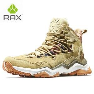 Image 3 - を RAX 男性登山靴の冬の防水屋外スニーカー男性革トレッキングブーツトレイルキャンプクライミングスニーカー革の靴