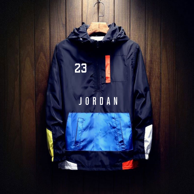 Hot Sale Jordan Windbreaker Jacket Mens Autumn Outdoor Hooded Jacket Men Large Size Windbreaker Zipper Jacket Brand Clothing