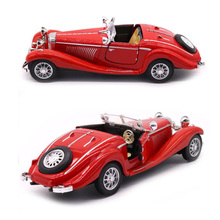 Red color 1:28 Scale 16.8CM Metal Alloy Diecasts 500K Classic Pull Back 1936 car model Vehicles Toys For Kids Collection display