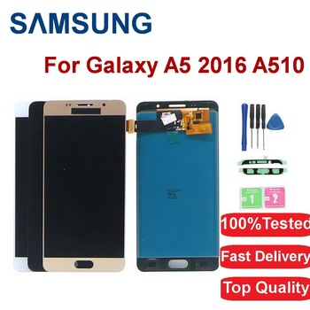 5.2'' LCD For Samsung Galaxy A5 2016 LCD Display A510 A510F A510M SM-A510F Touch Screen Digitizer+Frame  Adjustable Brighteness защитная плёнка для samsung galaxy a5 2016 sm a510f front
