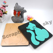 Cat cutting dies & wooden die scrapbook cut sky Compatible with most machines S1008