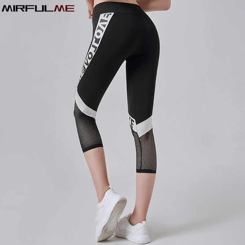 Womens 3//4 Length Yoga Pants Gym Fitness Sports Cropped Leggings Running Tourser