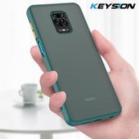 KEYSION caso mate para Redmi Nota 9S 9 Pro Max 8 8T 8A 7A K20 K30 a prueba de golpes a prueba funda trasera del teléfono para Xiaomi Mi nota 10 Lite Mi 9