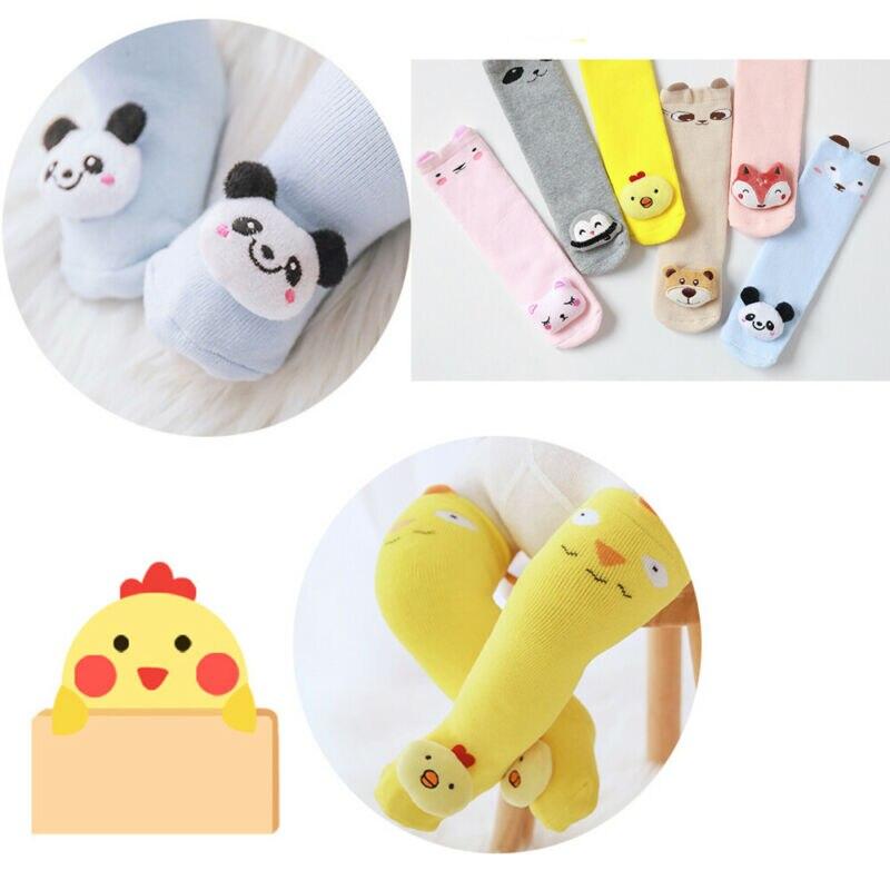 1 Pair Unisex Lovely Cute Cartoon Kids Baby Socks Knee Girl Boy Baby Toddler Animal Infant Soft Cotton Long Socks 0-3 Y