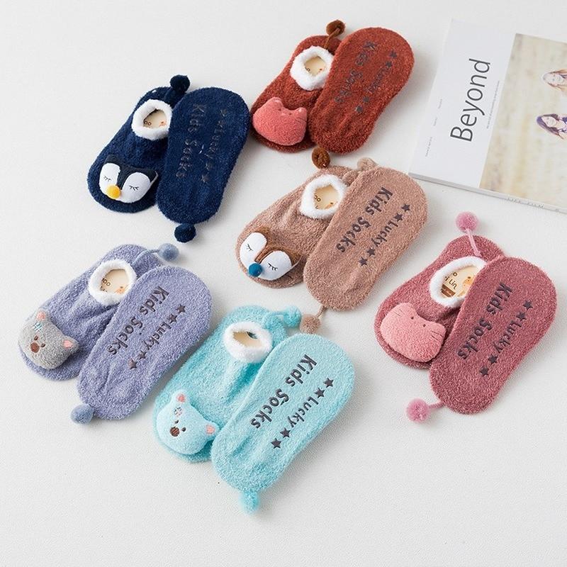 Winter Thick Baby Socks Warm Newborn Cotton Boys Girls Cute Toddler Socks Baby Non-slip Cartoon Animal Infant Sock Kids Socks