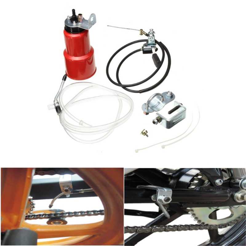 Motorcycle Automatic Chain Lubricator ATV Lubricant Grease Lub Parts Oiler Maintenance Set
